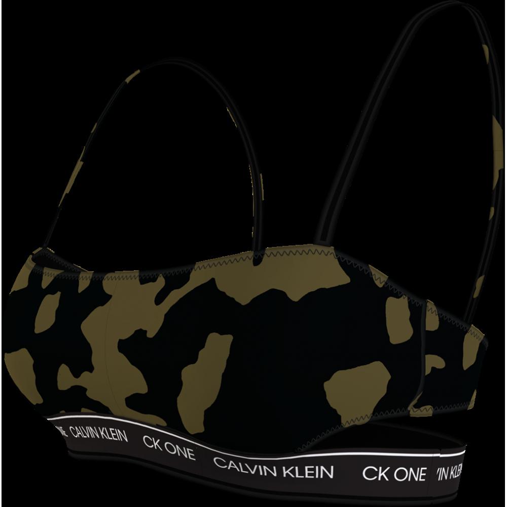 Γυναικείο Μπουστάκι Μαγιό CK ONE Calvin Klein Με Σχέδιο Παραλλαγής