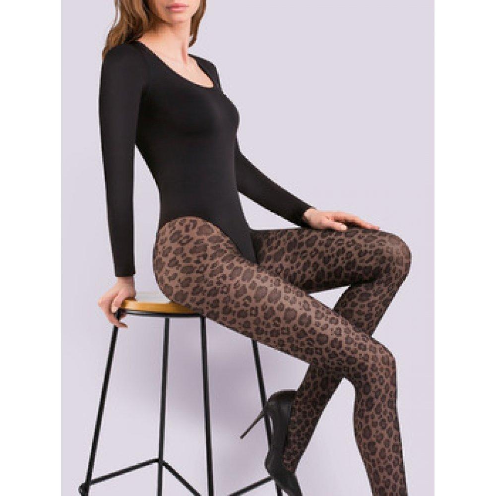 Γυναικείο Καλσόν Gabriella Caty 20 den  με σχέδιο animal print