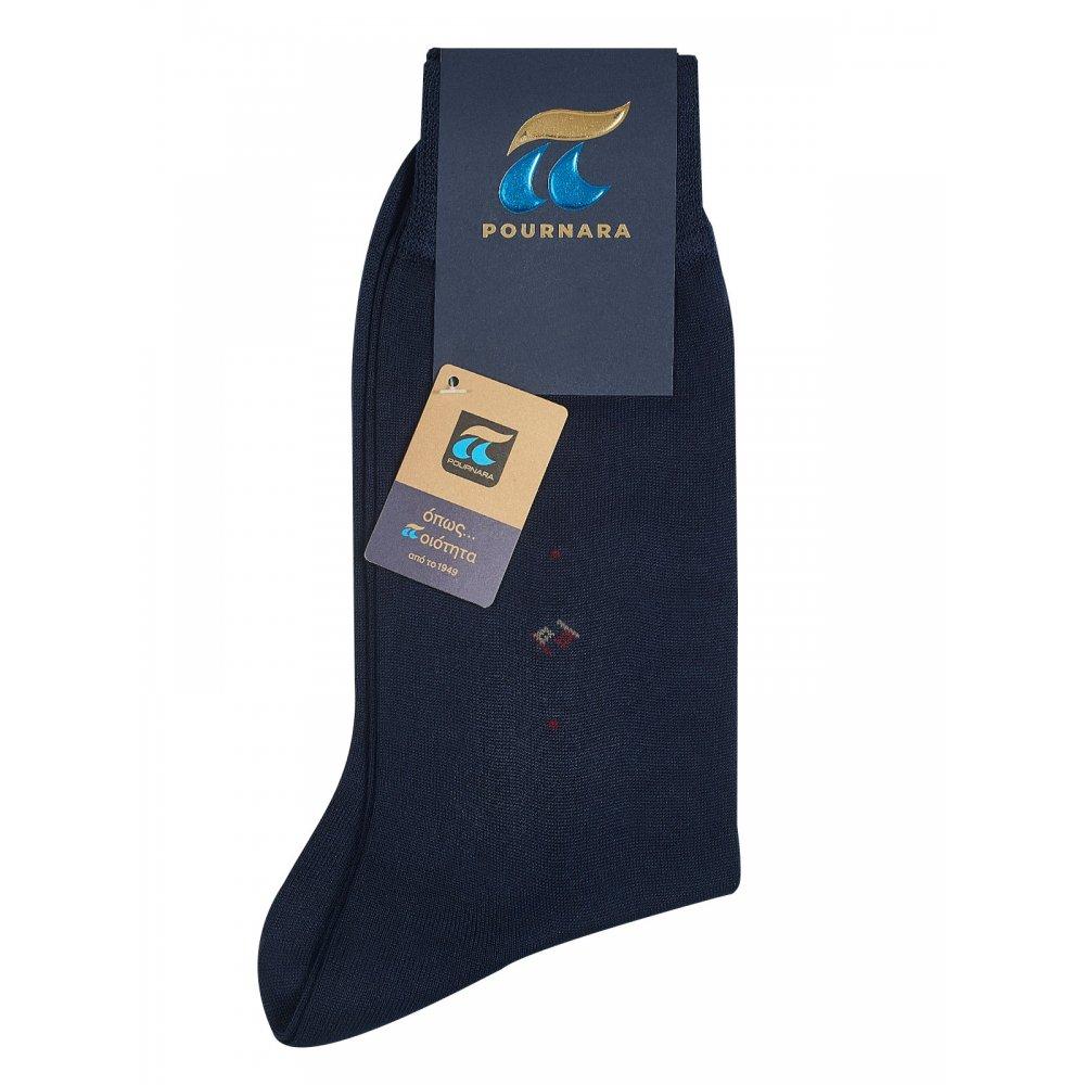 Pournara Ανδρική Κάλτσα  Μερσεριζέ - Κλασική με Σχέδιο
