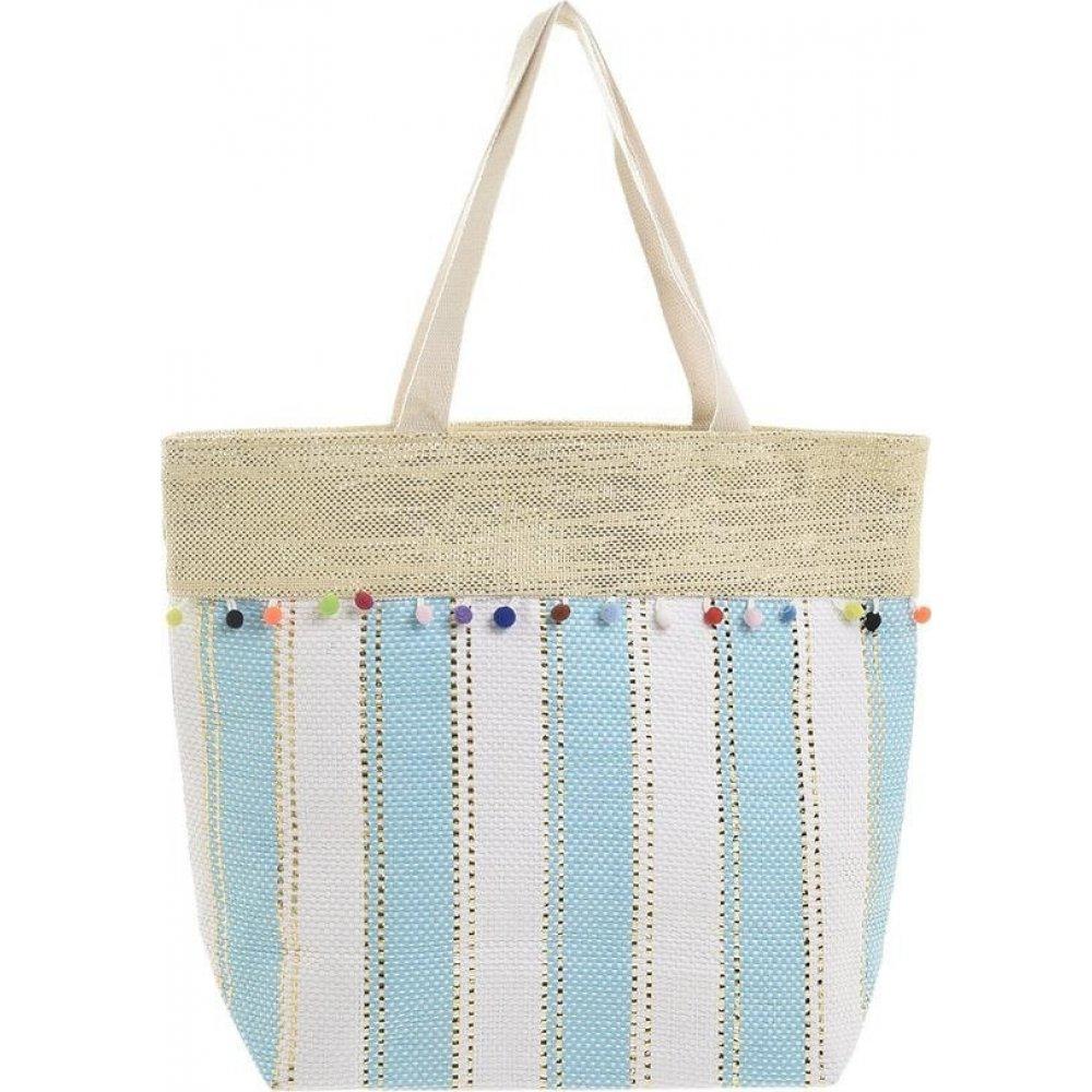 Τσάντα Υφασμάτινη Γαλάζιο/Λευκό Ble