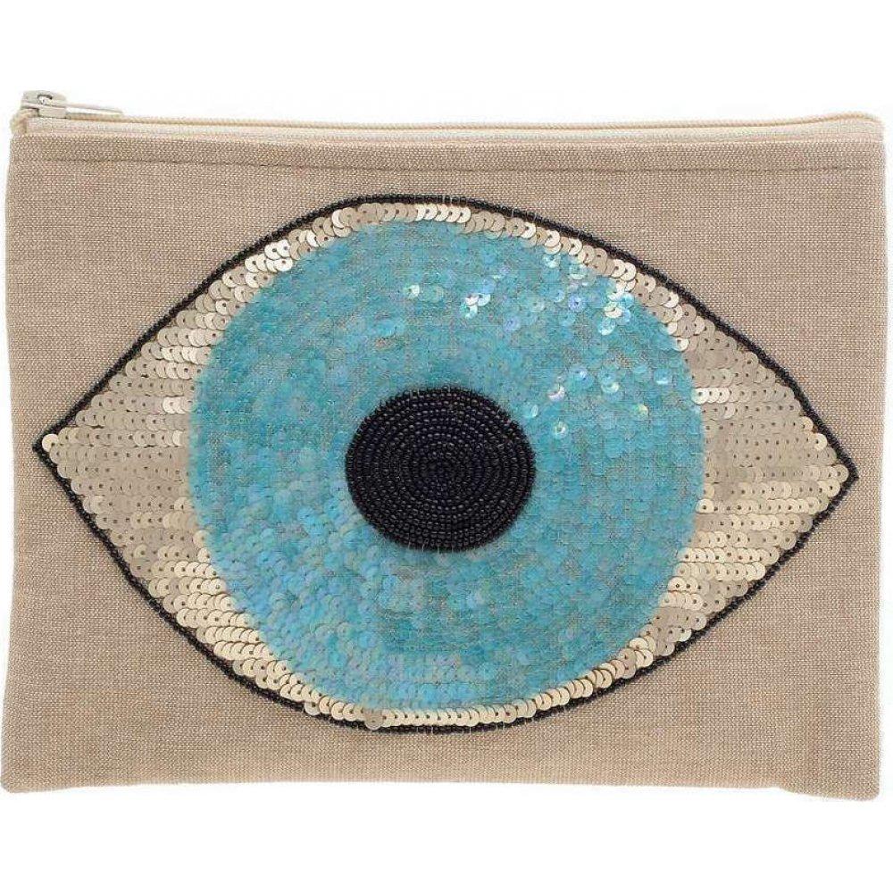 Γυναικείο Τσαντάκι Μπεζ Με Γαλάζιο Μάτι Ble