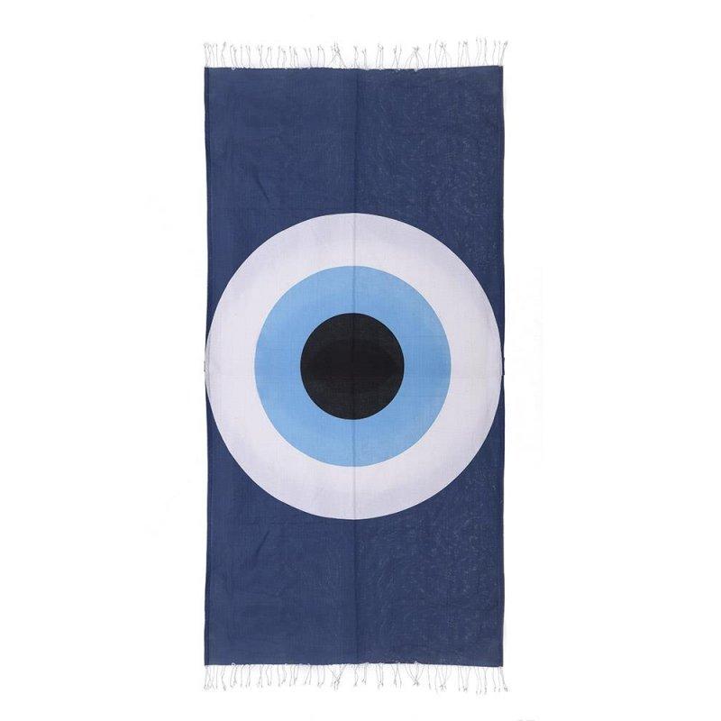 Πετσέτα Pestemal Μπλέ Με Μάτι (180x100) Ble