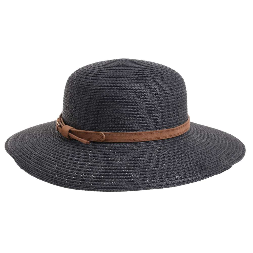 Γυναικείο Καπέλο Ψάθινο Μαύρο BLE