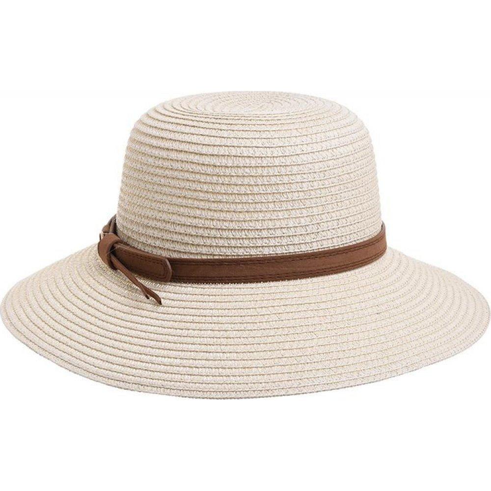 Γυναικείο Καπέλο Ψάθινο Μπέζ Με Καφέ Λεπτομέρεια  BLE