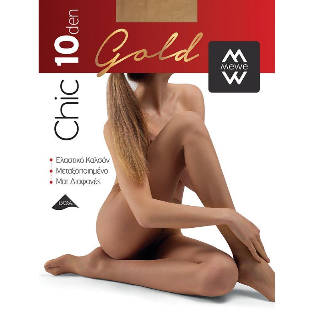 ME-WE Γυναικείο Καλσόν της σειράς Chic Gold 10 Den