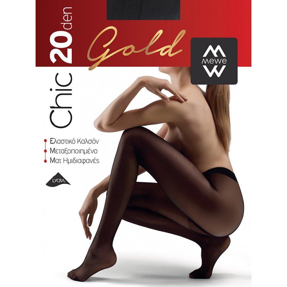 ME-WE Γυναικείο Καλσόν της σειράς Chic Gold 20 Den