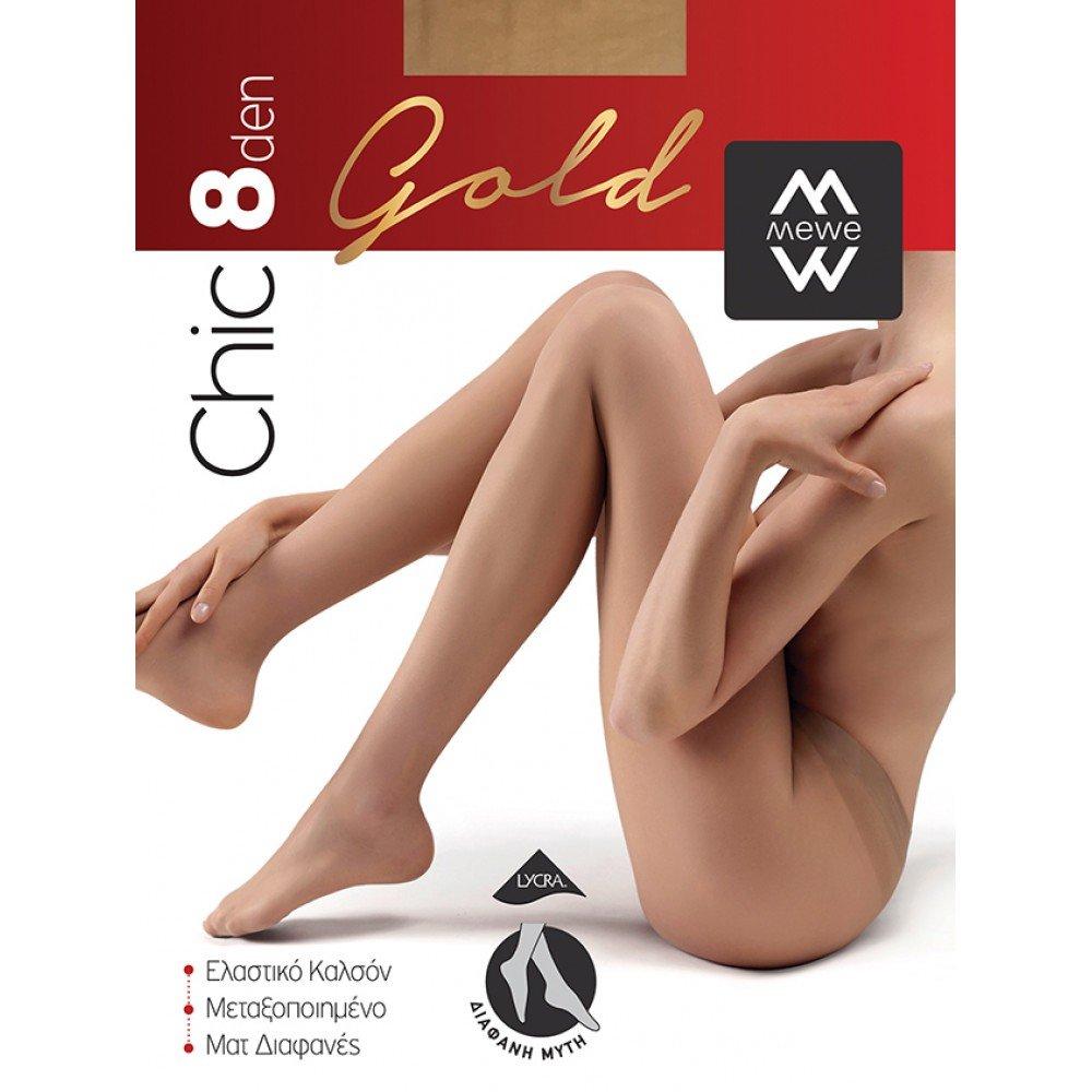 ME-WE Γυναικείο Καλσόν της σειράς Chic Gold 8 Den