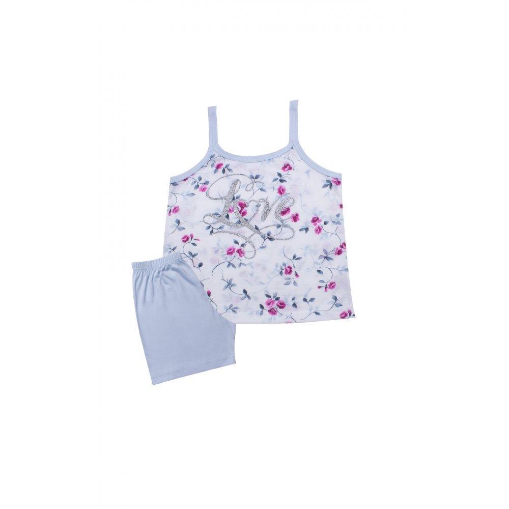 Παιδική Πυτζάμα Για Κορίτσι MINERVA Love Floral