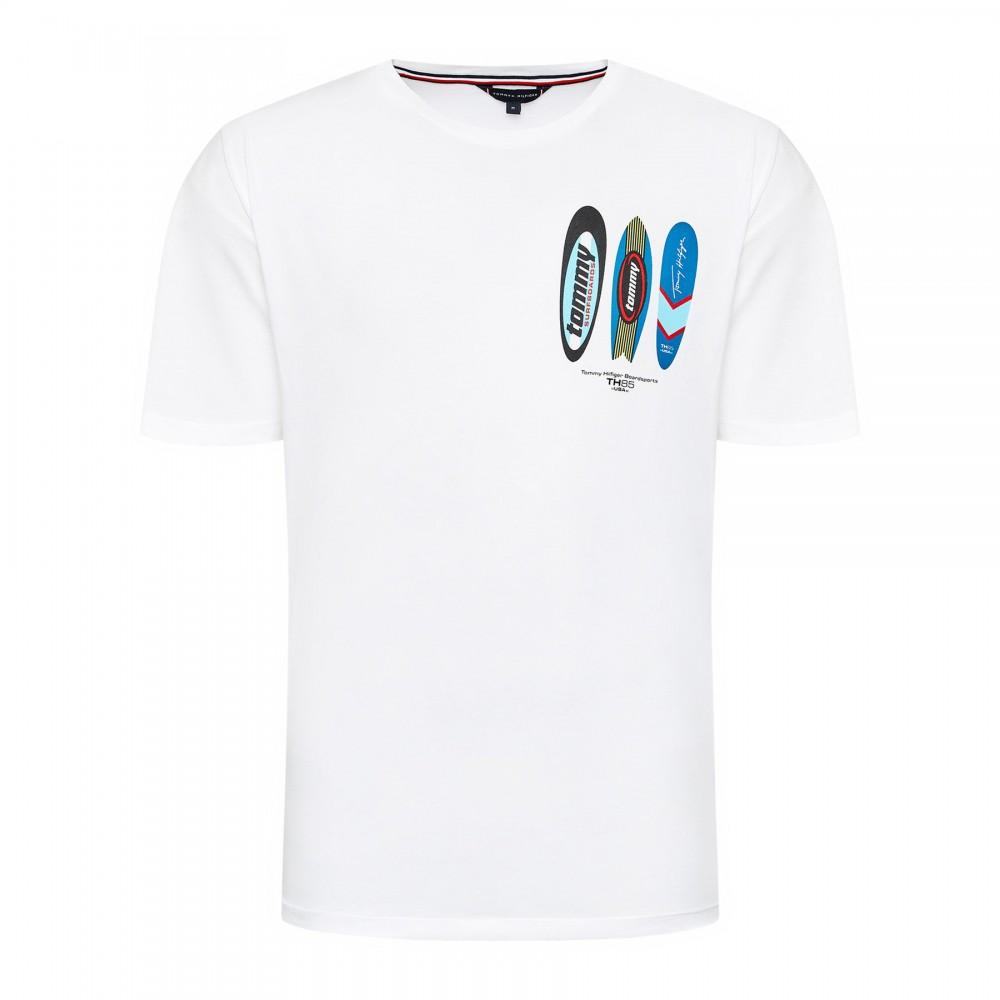 Ανδρικό Βαμβακερό T-Shirt Tommy Hilfiger Drop Shoulder Tee-Print